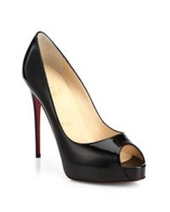 Christian Louboutin Stiletto Redbottms Peep-toe Platform Gifts For Her Pumps