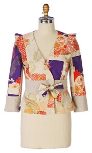 Anthropologie Elevenses Floral Iced Juniper MULTICOLOR Jacket