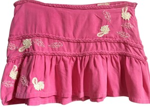 Da-Nang Silk Mini Mini Skirt Pink
