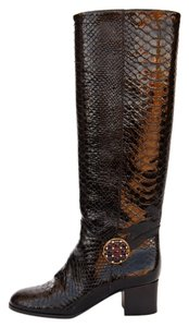 Chanel Python Boot Black Boots