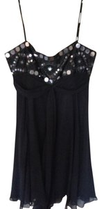 BCBG Paris Beaded Chiffon Dress