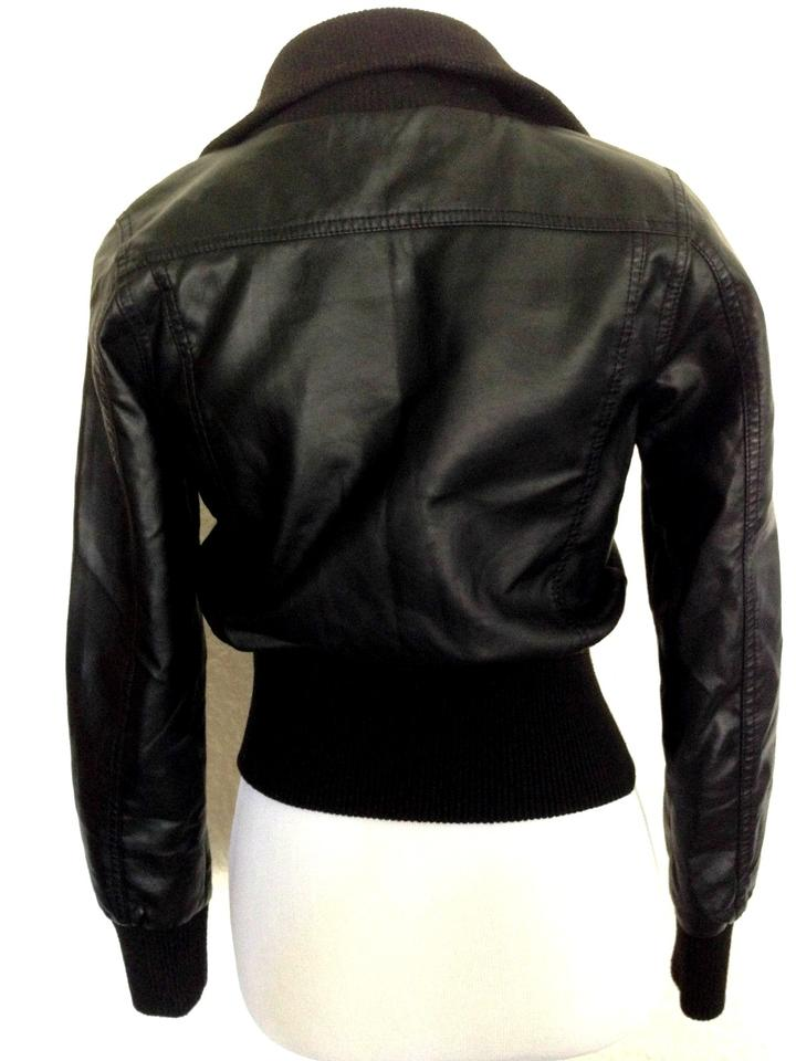 e43a7b533 Ambiance Black Faux Bomber High Collar Like New Worn Once Jacket Size 4 (S)  38% off retail