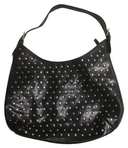 Draper's and Damon's Studded Leather Hobo Bag