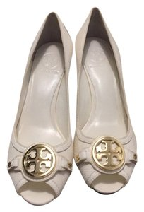 Tory Burch Ivory/ white Wedges