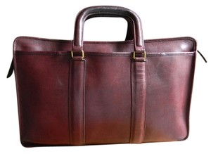 Coach Vintage Leather Made In The Usa Rare Burgundy Laptop Bag