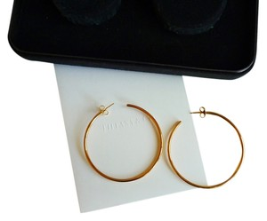 Tiffany & Co. Tiffany Bezet(TM) 18K Hoop Earrings