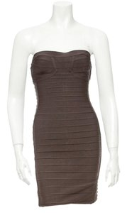 Hervé Leger Strapless Bandage Bodycon Designer Dress