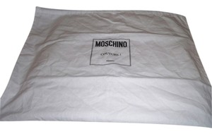 Moschino New Moschino Couture Sleeper/ Dust Bag Protective Cover White with Black Logo Bag 19x15 !!!