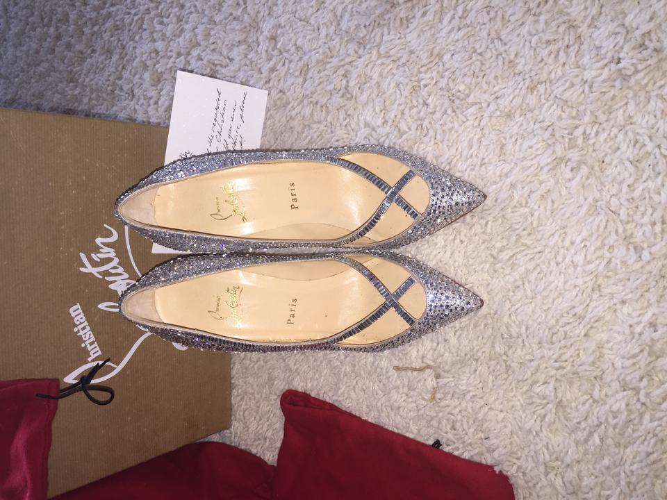 Pumps Christian Vic Silver Louboutin Super 0qqI4aw