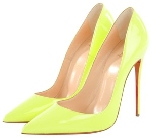 23e190dd341 Christian Louboutin Yellow Classic So Kate 120mm Neon Patent Leather ...