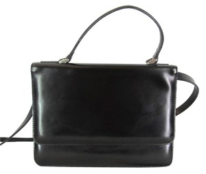Ann Taylor Leather Satchel in Black