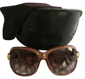 Gucci GUCCI Sunglasses with Rose Gold Accents