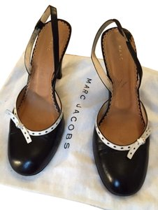 Marc Jacobs Sling Sexy Two-tone Black and White Pumps