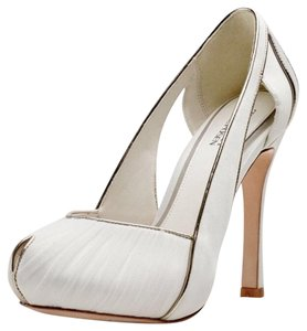 Truly By Zac Posen for Davids Bridal White Platforms