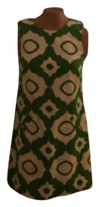 Shoshanna short dress Green and cream on Tradesy