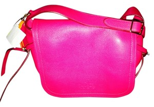 Coach Hand Laced Fushia Cross Body Bag