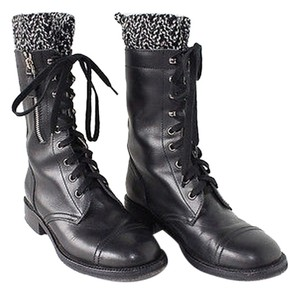 Chanel Fashion Black Boots