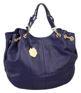 Vince Camuto Leather Tote in Evening Blue