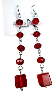 Beautiful red crystal earrings