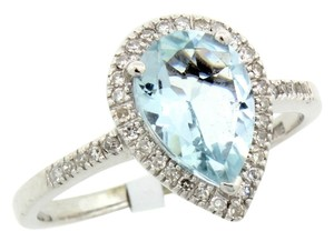 !Reduced! Beautiful Estate 2.75 CTW Aquamarine & Diamond 14K WG Ring