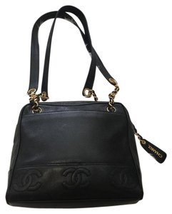 Chanel Vintage Caviar Leather Tote Shoulder Bag