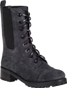Tory Burch Military Lace Up gray Boots