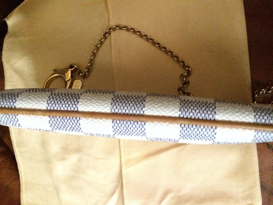 dd08fb8e16b Louis Vuitton Pochette Milla Mm In Damier Azur Canvas Clutch - Tradesy