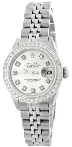 Rolex Rolex Lady Datejust Stainless Steel and 18K White Gold White Diamond Watch