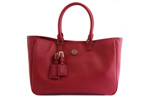 Tory Burch Roslyn Roslyn Leather 38159910 Handbag Shoulder Tote in Red