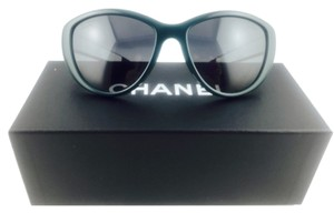 Chanel Chanel Forrest Green Crystal Rimmed Sunglasses