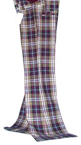 Other High Waist New Trend Waist Plaid Slacks Stage Theater Music Punk Steampunk Hipster Groovy Dance Soul Train Slit Side Flare Pants Plaid long