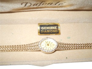 Lucien Picard Ladies Dufonte Silver and Goldtone Watch with Diamond Accents by Lucien Piccard