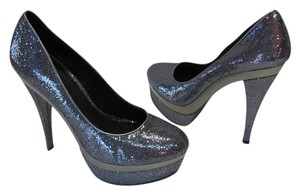 JustFab New Excellent Condition Dark Silver Platforms