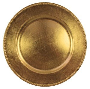 Gold Beaded Charger Plates Tableware