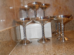 Set Of 8 Plator Silver Goblets From Neiman Marcus