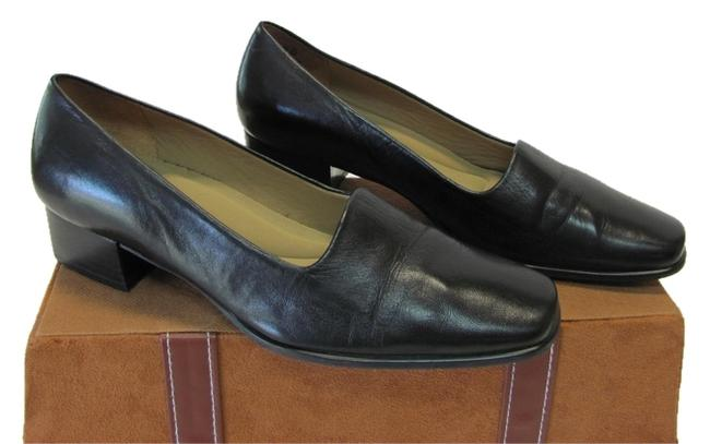 Item - Black Leather B Good Condition Pumps Size US 6 Regular (M, B)