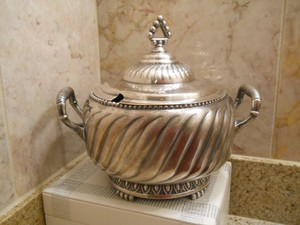 Antique Derby Silver Co Serving Bowl