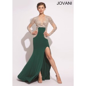 Jovani Green/nude Dress
