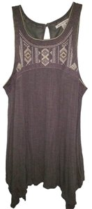 American Eagle Outfitters Embroidered Top Grey