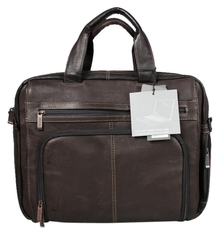 Kenneth Cole Reaction Out The Brown Leather Laptop Bag - Tradesy