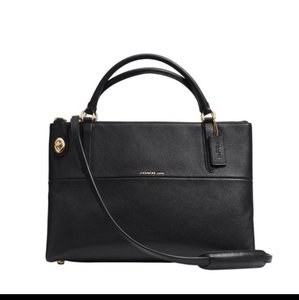 Coach Borough Collection Style 35833 Cross Body Satchel in Black