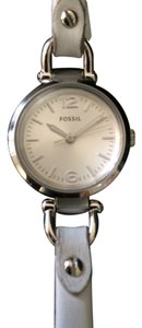 Fossil Fossil Georgia Mini White Leather Ladies Watch Es3267