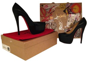Christian Louboutin Redbottoms Black Heels Kid Black Pumps