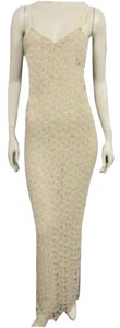 Versace Lace Maxi Sexy Cream Maxi Dress