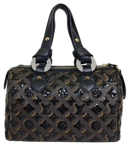 Louis Vuitton Satchel in Black, Brown
