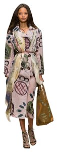 Burberry Prorsum Hand-painted Trench Silk Trench Trench Trench Coat