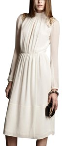 Burberry Prorsum Georgette Silk Made In Italy Dress