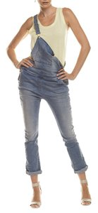 Patrizia Pepe Denim Overalls Stonewash Denim Women's Cargo Jeans-Medium Wash