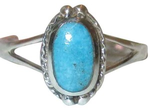 Other Genuine 925 Sterling Silver Natural Blue Turquoise Celtic Ring Sizes 5 6 7 8 9