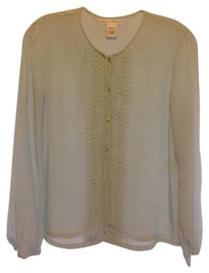Diane von Furstenberg Silk Top Light Blue
